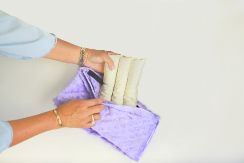 Happi Tummi:Natural and Fast Acting Warmed Aromatherapy Wrap for Pain Relief (Lavender L/XL) Perspective: back