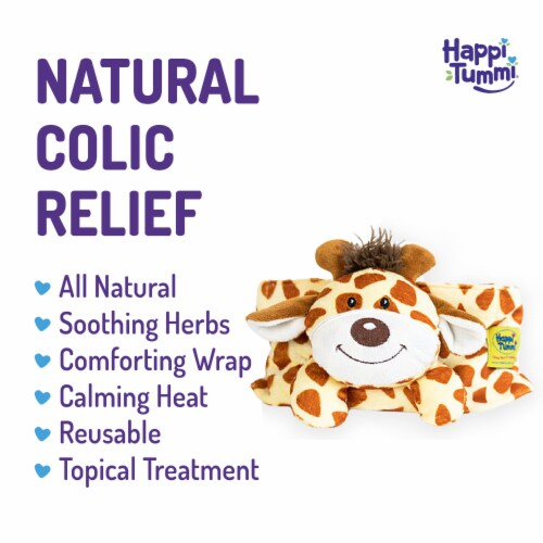 Happi Tummi:All Natural Fast Relief Waistband for Colic & Gas in Babies and Toddlers: Giraffe Perspective: back