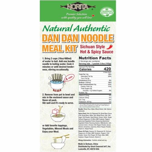 Norita Dan Dan Noodle Meal Kit Perspective: back