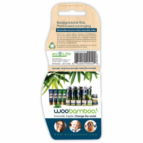 Woobamboo Eco-Awesome Mint Floss Perspective: back