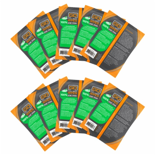 HyperGo Full Body Wipes (10 Individually Wrapped Wipes) Perspective: back