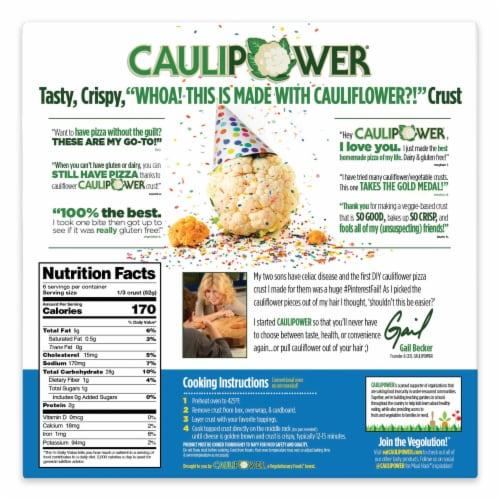 Caulipower Cauliflower Pizza Crusts Perspective: back