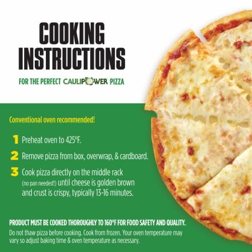 Caulipower Stone-Fired Three Cheese Cauliflower Crust Pizza Perspective: back