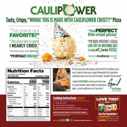 Caulipower Stone-Fired Margherita Cauliflower Crust Pizza Perspective: back