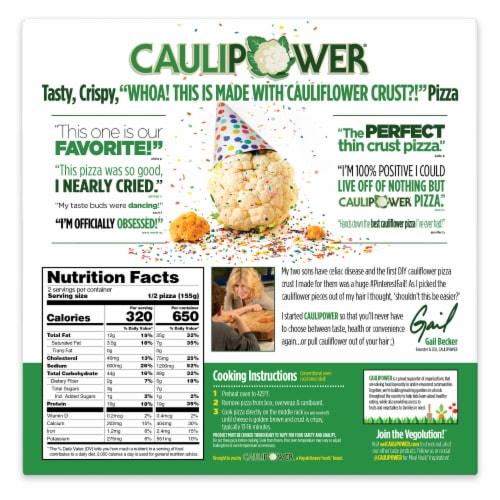 Caulipower Stone-Fired Veggie Cauliflower Crust Pizza Perspective: back