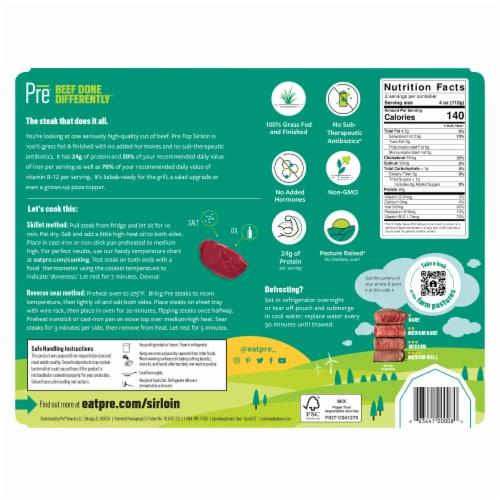 Pre Beef Top Sirloin Steak Perspective: back