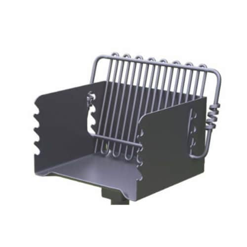 Pilot Rock CBP 135 Park Style Steel Outdoor BBQ Charcoal Grill and Post, Black Perspective: back