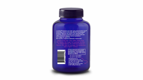 Lovebug Probiotics Yeast is a Beast Capsules Perspective: back