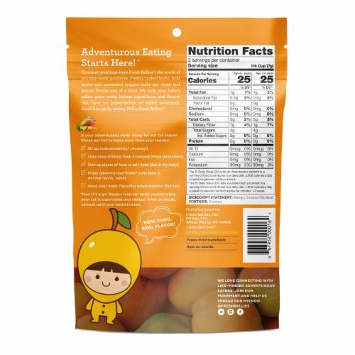 Fresh Bellies Mango Basil Baby Food Snacks Perspective: back