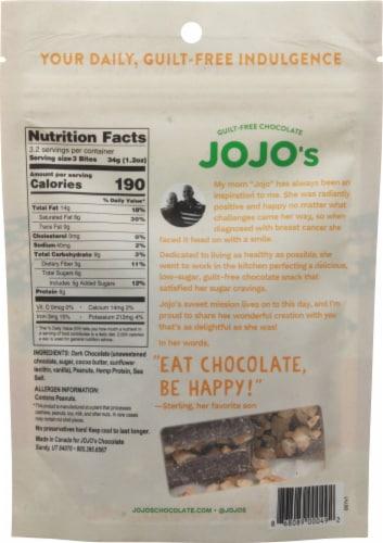 JOJO's Peanut Butter Delight Guilt-Free Chocolate Bites Perspective: back