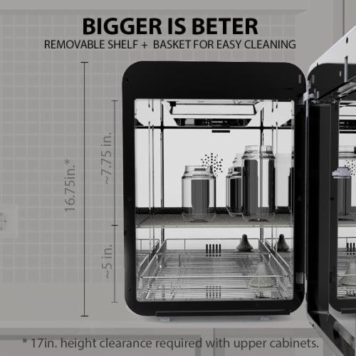 Wabi Touch Panel UV-C Bottle Sanitizer & Dryer Perspective: back