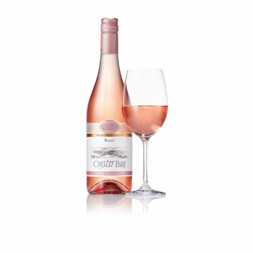 Oyster Bay Malborough Rose Wine Perspective: back