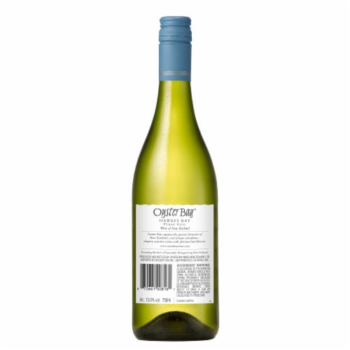Oyster Bay Hawke's Bay Pinot Gris Perspective: back