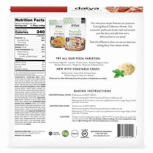 Daiya Dairy Free Meatless Meat Lover's Gluten Free Frozen Vegan Pizza Perspective: back