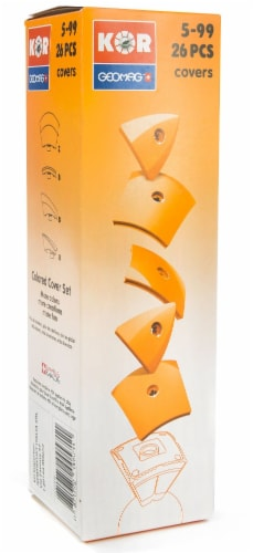 Geomag Kor Egg Covers - Orange - 26-Piece Creative Magnet Cover Addition Perspective: back