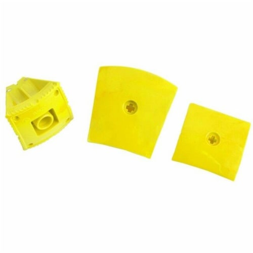Geomag Kor Egg Covers - Yellow - 26-Piece Creative Magnet Cover Addition Perspective: back