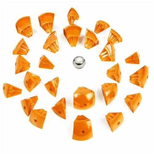 Geomag Kor Egg - Orange - 55 Piece Creative Magnet Playset Perspective: back