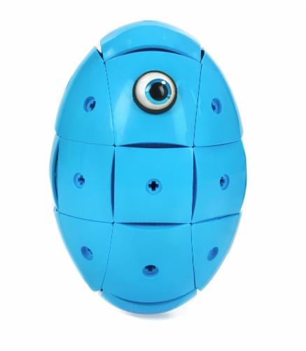 Geomag Kor Egg - Blue - 55 Piece Creative Magnet Playset Perspective: back