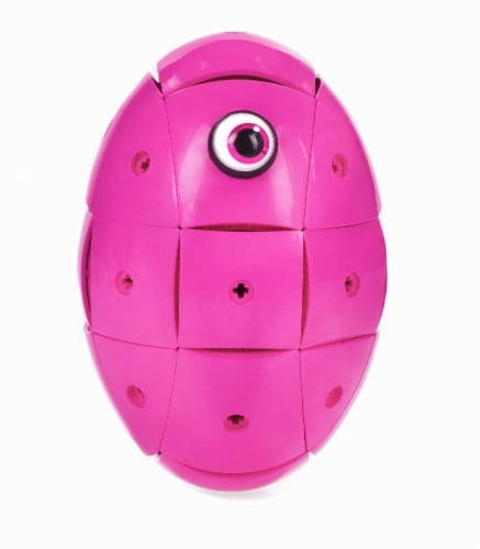 Geomag Kor Egg - Pink - 55 Piece Creative Magnet Playset Perspective: back