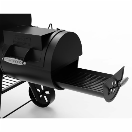 Dyna-Glo Signature Series Barrel Charcoal Grill with Side Firebox Perspective: back