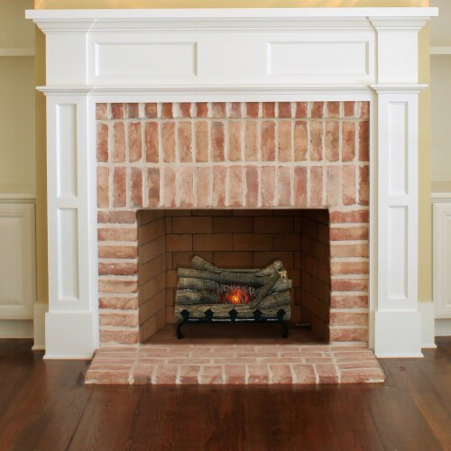 Pleasant Hearth Electric Crackling Log with Grate Perspective: back