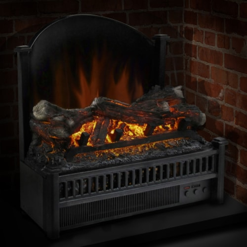 Pleasant Hearth Electric Log Insert with Removable Fireback and Heater Perspective: back