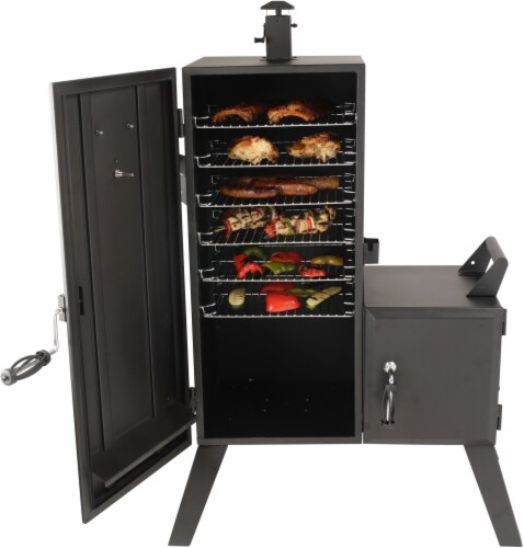 Dyna-Glo Vertical Offset Charcoal Smoker Perspective: back
