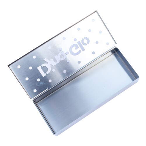 Dyna-Glo Hinged Stainless Steel Smoker Box Perspective: back