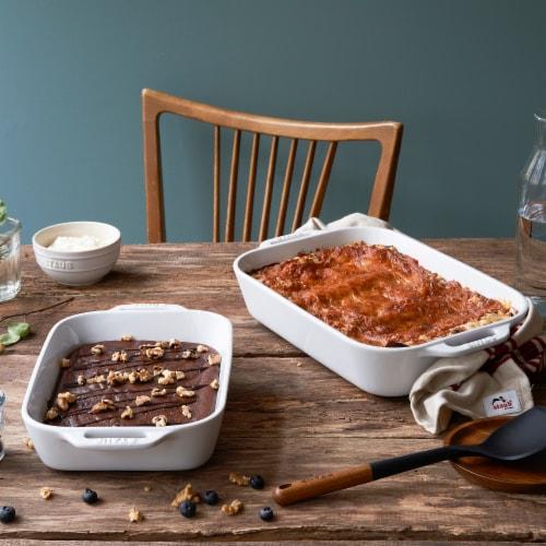 Staub Ceramic 2-pc Rectangular Baking Dish Set - White Perspective: back