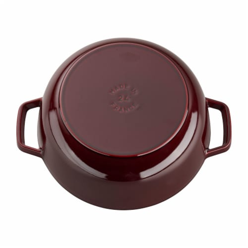Staub Cast Iron 3.75-qt Essential French Oven Rooster - Grenadine Perspective: back