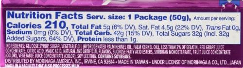 Hi-Chew Grape Fruit Chews Perspective: back
