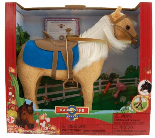 """Palomino Horse, With Posable Legs for 10"""" Dolls Perspective: back"""