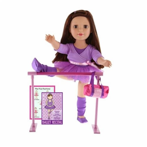 """Be My Girl 18"""" Doll Ballet Playset Perspective: back"""