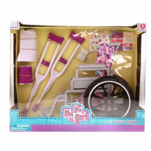 """Be My Girl 18"""" Doll Wheelchair Playset Perspective: back"""