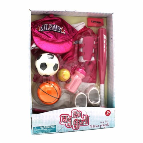 "Be My Girl 18"" Doll All Star Sport Fashion Playset Perspective: back"