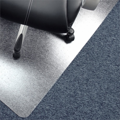 Floortex Solutions FR1115015023ER Clear Floor Office Chair Mat, 60 x 60 Inch Perspective: back