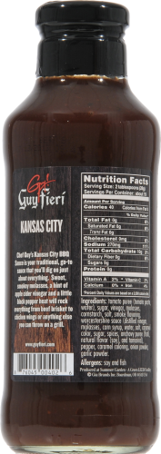 Guy Fieri Kansas City Barbecue Sauce Perspective: back