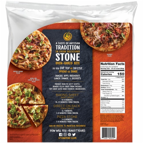 Stonefire Artisan Flatbread Thin Pizza Crusts Perspective: back