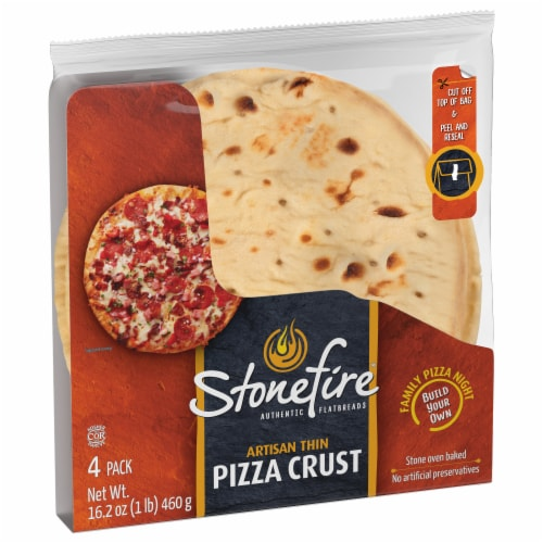 Stonefire 8.5-Inch Artisan Thin Pizza Crust Perspective: back