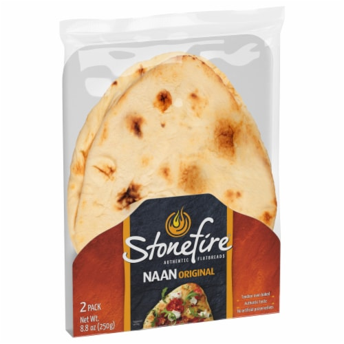 Stonefire Original Naan Flatbreads Perspective: back