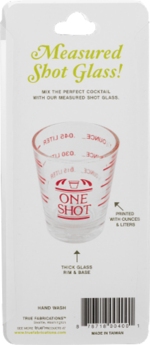 True Fabrications One Shot Shot Glass - Clear Perspective: back
