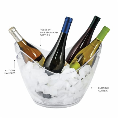 Chill™: Modern Ice Bucket Perspective: back
