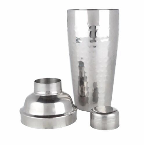 Viski Hammered Stainless Steel Cocktail Shaker Perspective: back