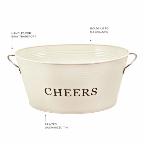 Cheers Galvanized Metal Tub by Twine® Perspective: back