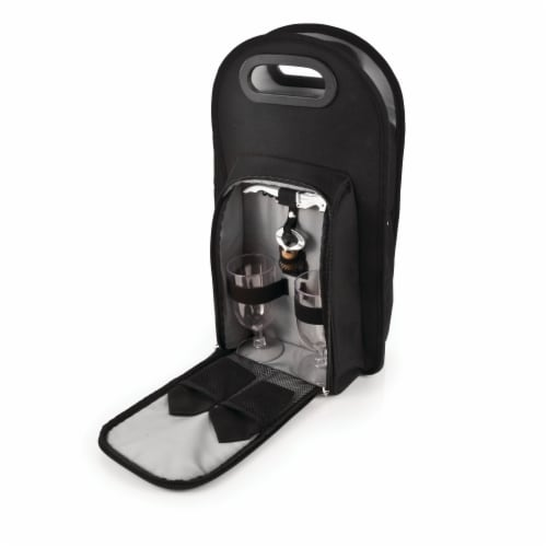 Metro™: Onyx 2-Bottle Tote Perspective: back