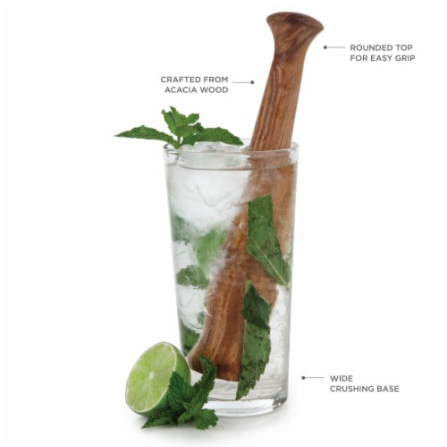 Acacia Wood Muddler by Twine® Perspective: back