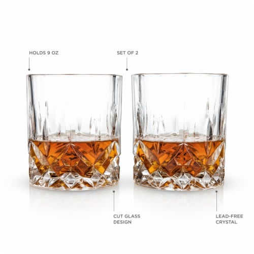 Admiral™ Crystal Tumblers by Viski® Perspective: back