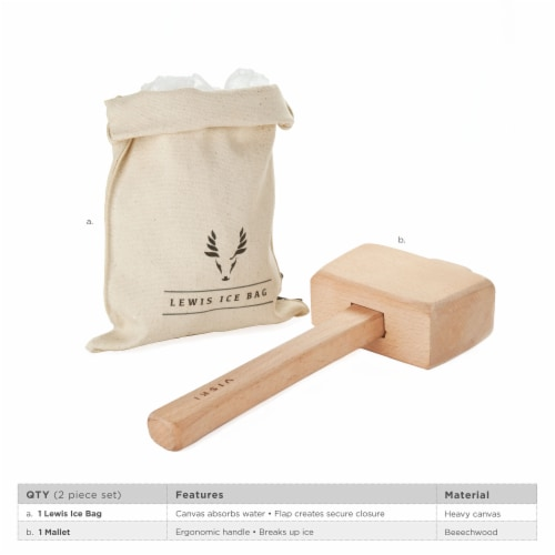 Lewis Ice Bag and Mallet by Viski® Perspective: back