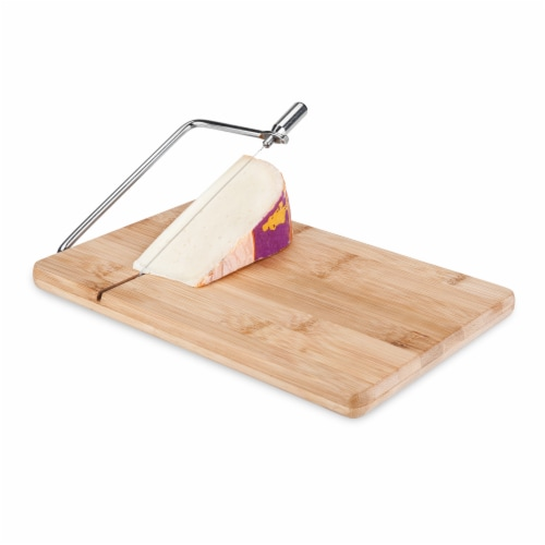 Wireslice Bamboo Cheese Slicing Board by True Perspective: back