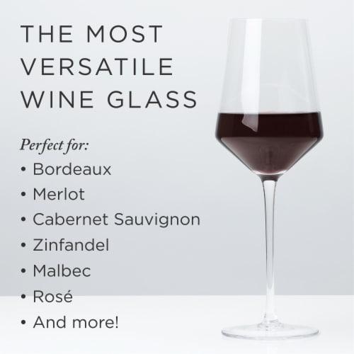 Angled Crystal Bordeaux Glasses by Viski® Perspective: back